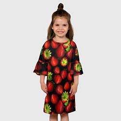 Платье клеш для девочки Клубничка цвета 3D — фото 2