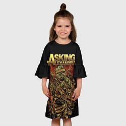 Платье клеш для девочки Asking Alexandria цвета 3D-принт — фото 2