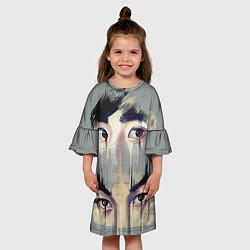 Платье клеш для девочки EXO Eyes цвета 3D-принт — фото 2