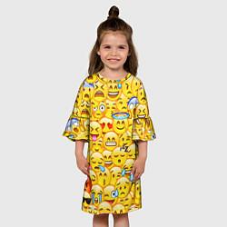 Платье клеш для девочки Emoji цвета 3D — фото 2