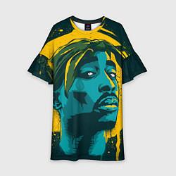 Платье клеш для девочки 2Pac Shakur цвета 3D — фото 1