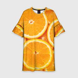 Платье клеш для девочки Апельсин цвета 3D — фото 1