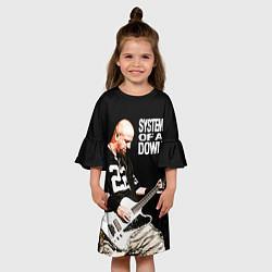 Платье клеш для девочки System of a Down цвета 3D — фото 2