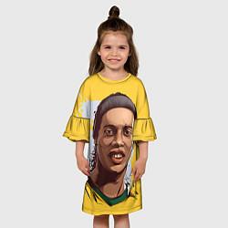 Платье клеш для девочки Ronaldinho Art цвета 3D-принт — фото 2