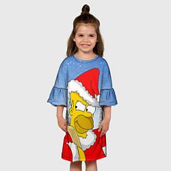 Платье клеш для девочки Санта Гомер цвета 3D — фото 2