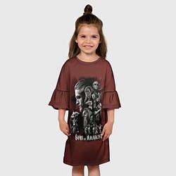 Платье клеш для девочки Sons Of Anarchy цвета 3D — фото 2