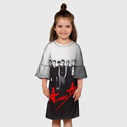 Платье клеш для девочки АлисА: Трасса E95 цвета 3D — фото 2