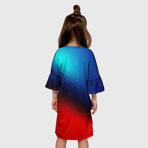 Детское платье Синий и красный / 3D-принт – фото 4