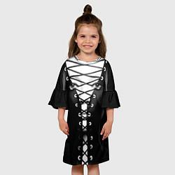 Платье клеш для девочки Шнуровка цвета 3D — фото 2