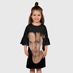 Платье клеш для девочки Tomb Rider цвета 3D — фото 2