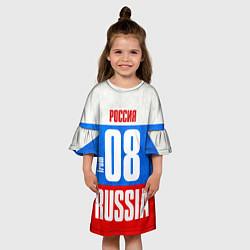 Платье клеш для девочки Russia: from 08 цвета 3D — фото 2