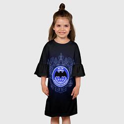 Платье клеш для девочки Военная разведка цвета 3D — фото 2