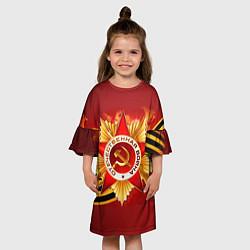 Платье клеш для девочки День победы 4 цвета 3D — фото 2