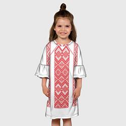 Платье клеш для девочки Вышивка 46 цвета 3D-принт — фото 2