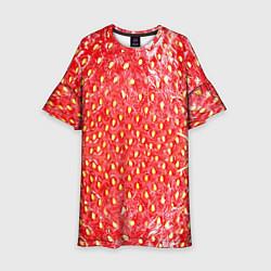 Платье клеш для девочки Я клубничка цвета 3D — фото 1