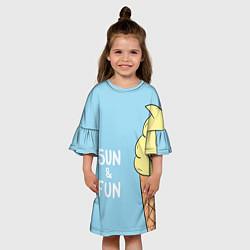 Платье клеш для девочки Sun & Fun цвета 3D — фото 2