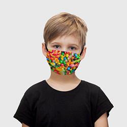 Маска для лица детская Сладкие конфетки цвета 3D — фото 1
