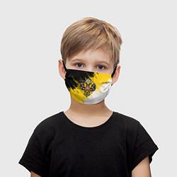 Маска для лица детская Имперский флаг и герб цвета 3D — фото 1