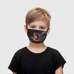 Маска для лица детская Виктор Цой цвета 3D — фото 1