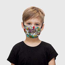 Маска для лица детская Break Show Dance цвета 3D-принт — фото 1