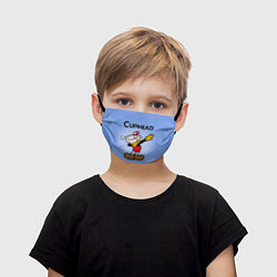Маска для лица детская Cuphead Dab цвета 3D — фото 1