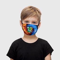 Маска для лица детская BRAWL STARS LEON SKINS цвета 3D-принт — фото 1