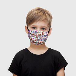 Маска для лица детская AMONG US цвета 3D — фото 1
