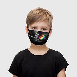Маска для лица детская Pink Floyd цвета 3D-принт — фото 1