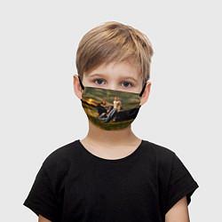 Маска для лица детская Nickelback Group цвета 3D-принт — фото 1