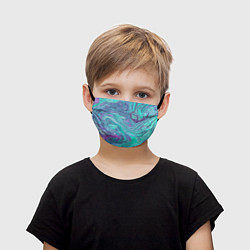 Маска для лица детская Смесь красок цвета 3D — фото 1