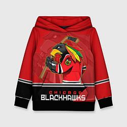 Толстовка-худи детская Chicago Blackhawks цвета 3D-черный — фото 1