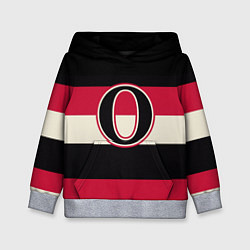 Толстовка-худи детская Ottawa Senators O цвета 3D-меланж — фото 1
