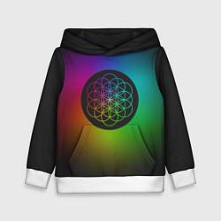 Толстовка-худи детская Coldplay Colour цвета 3D-белый — фото 1
