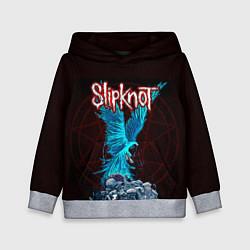 Толстовка-худи детская Орел группа Slipknot цвета 3D-меланж — фото 1