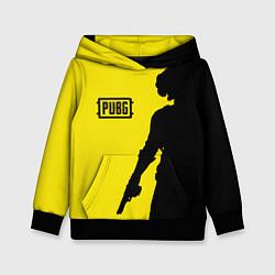Толстовка-худи детская PUBG: Yellow Shadow цвета 3D-черный — фото 1