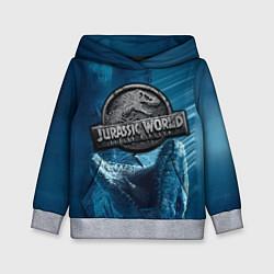 Толстовка-худи детская Jurassic World: Fallen Kingdom цвета 3D-меланж — фото 1