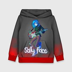 Толстовка-худи детская Sally Face: Rock Star цвета 3D-красный — фото 1