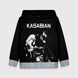 Толстовка-худи детская Kasabian Rock цвета 3D-меланж — фото 1