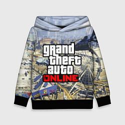 Толстовка-худи детская GTA Online цвета 3D-черный — фото 1