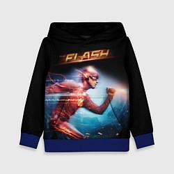 Толстовка-худи детская The Flash цвета 3D-синий — фото 1