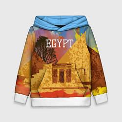 Толстовка-худи детская Египет Пирамида Хеопса цвета 3D-белый — фото 1