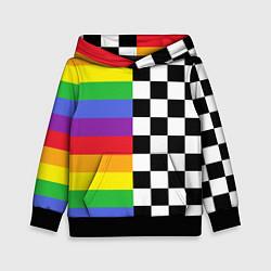 Толстовка-худи детская Rainbow цвета 3D-черный — фото 1