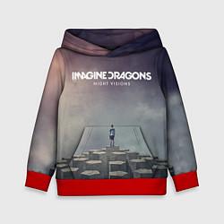 Толстовка-худи детская Imagine Dragons: Night Visions цвета 3D-красный — фото 1