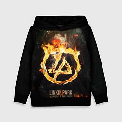 Толстовка-худи детская Linkin Park: Burning the skies цвета 3D-черный — фото 1