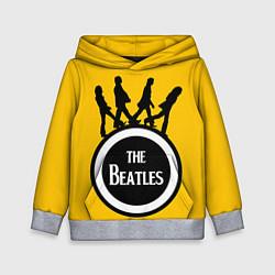 Толстовка-худи детская The Beatles: Yellow Vinyl цвета 3D-меланж — фото 1