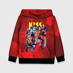 Толстовка-худи детская KISS: Hot Blood цвета 3D-черный — фото 1