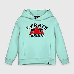 Толстовка оверсайз детская Karate Russia цвета мятный — фото 1