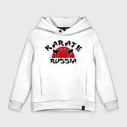 Толстовка оверсайз детская Karate Russia цвета белый — фото 1