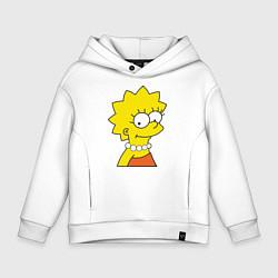 Толстовка оверсайз детская Lisa Simpson цвета белый — фото 1