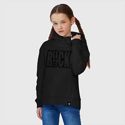 Толстовка оверсайз детская Rock Logo цвета черный — фото 2